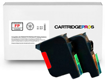 PIC10 Standard Fluorescent Red Ink Cartridge Set for FP PostBase 20, 30, 45, 65, 85