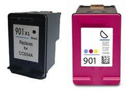 1 Set No-name Remanufactured CC654AE /& CC656AE Ink Cartridges Replacement for HP 901 XL HP901 HP901XL 901XL OfficeJet J4640 J4500 J4600 J4680 J4680c J4624 J4524 J4535 Inkjet Printer